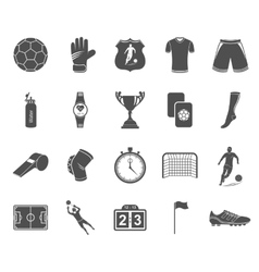Set of icons football vector image