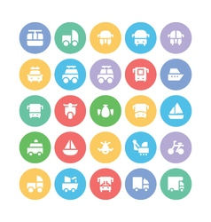 Transport Bold Icons 8 vector image vector image