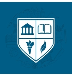 university emblem education icon vector image