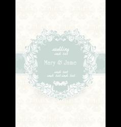 Wedding invitation card Vintage ornate card vector image