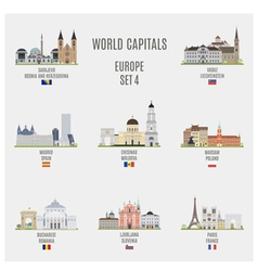 World capitals vector