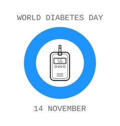 World diabetes day device for measuring the blood vector