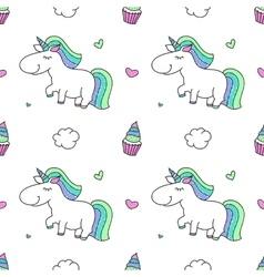 Unicorns and rainbows vector