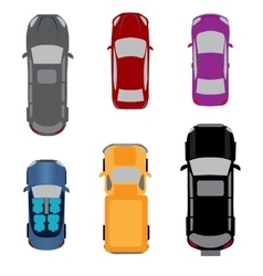 Set of six vehicles coupe convertible sedan vector