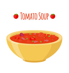 Tomato soup with meat beet tomatoes vector