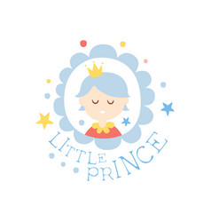 little prince print colorful hand drawn vector image