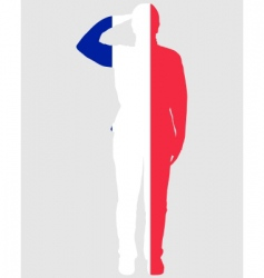 French salute vector