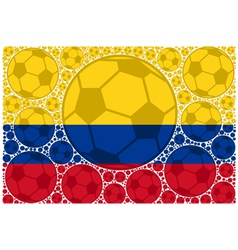 Colombia soccer balls vector