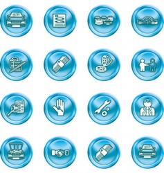 Car dealer icons vector
