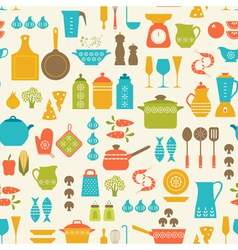 Cooking pattern vector image