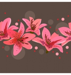 border with lilies vector image
