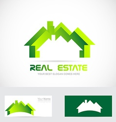 Real estate residential logo vector image