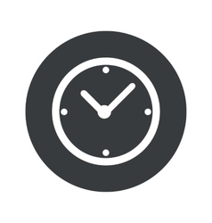 Monochrome round clock icon vector