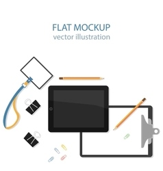 Flat mockups for website design vector