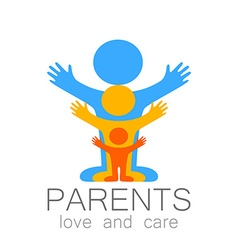 parents love care logo vector image