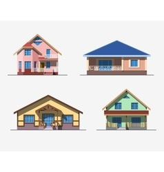 Houses 2 color vector