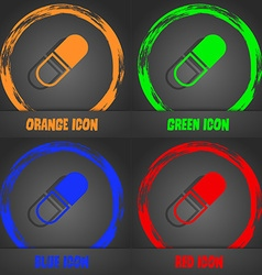 Pill icon fashionable modern style in the orange vector