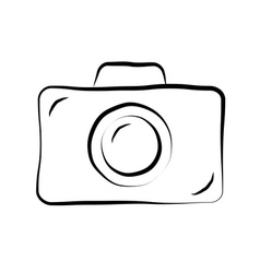 Photo camera doodle icon 1 vector