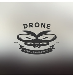 Drone vintage style label vector image