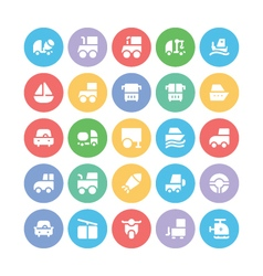 Transport bold icons 9 vector