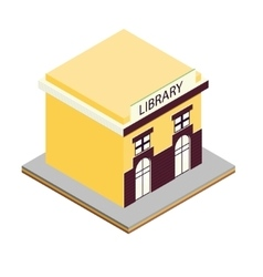 Library building isometric 3d icon vector
