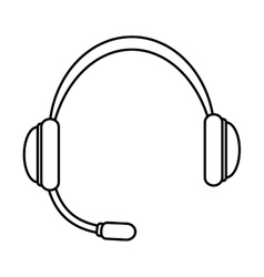 Headphone icon sound and music design vector