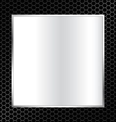 Abstract metal texture background with square vector