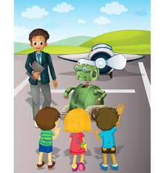 Airport School Trip vector image