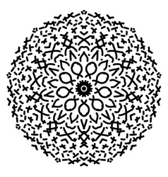 Abstract isolated mandala ornament vector