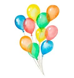 Air balloons vector
