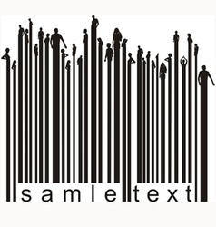 Bar code people vector image