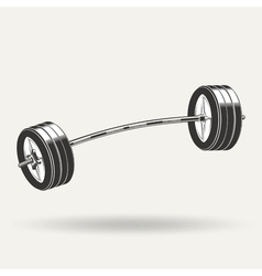 Barbell5 vector image vector image