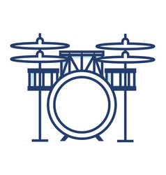 battery drums musical instrument vector image vector image