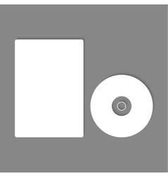 Blank cd dvd mock up vector