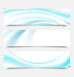 blue waves and lines on a white backgroundset of vector image vector image