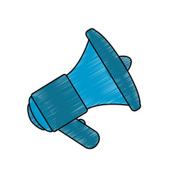 bullhorn isolated object vector image