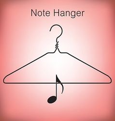 Coat hanger music vector