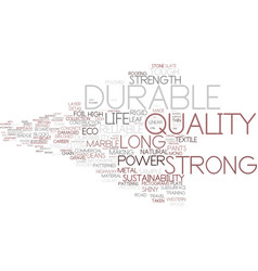 Durable word cloud concept vector