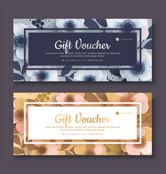 elegant gift voucher coupon template vector image