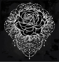 Flower decorative rose artwork vector