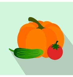 Fresh vegetables flat icon vector image vector image
