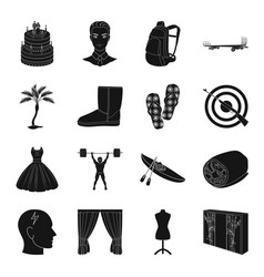 Furniture sports travel and other web icon in vector