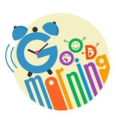good morning flat style 3 vector image vector image
