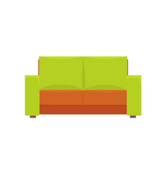 green modern sofa living room or office interior vector image