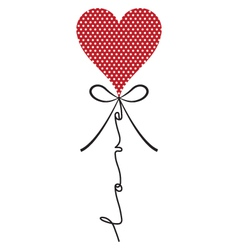 Heart balloon with wording vector
