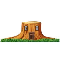 home in stump tree vector image