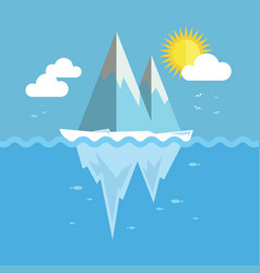 Iceberg flat graphic design vector
