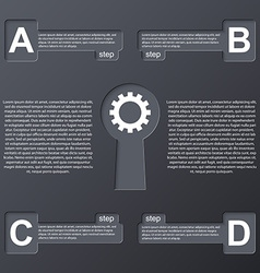 Keys modern infographic Design elements vector image