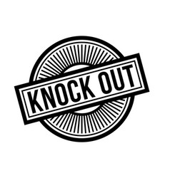 Knock out typographic stamp vector