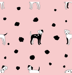 pattern dogs pink vector image vector image
